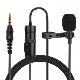 ONLENY Professional Lavalier Microphone Clip Portable 3.5mm - SL1 - Black