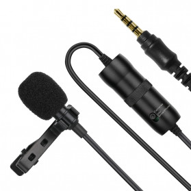 ONLENY Professional Lavalier Microphone Clip Portable 3.5mm - SL1 - Black - 2