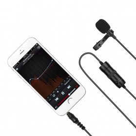 ONLENY Professional Lavalier Microphone Clip Portable 3.5mm - SL1 - Black - 4