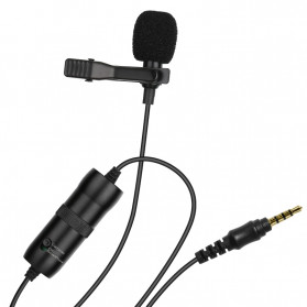ONLENY Professional Lavalier Microphone Clip Portable 3.5mm - SL1 - Black - 5