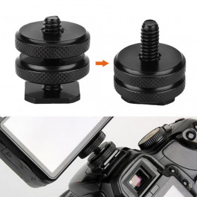 CAMVATE Tripod Screw Hot Shoe Kamera DSLR 1/4 Thread - HS7 - Black