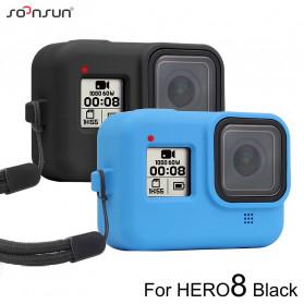 SOONSUN Silicone Protective Case Bumper for GoPro Hero 8 - SON-801 - Black