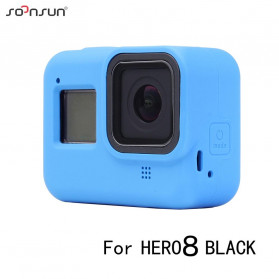 SOONSUN Silicone Protective Case Bumper for GoPro Hero 8 - SON-801 - Black - 4