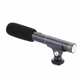 VBESTLIFE Portable Shotgun Microphone Condenser for DSLR Camcorder - MIC01 - Black - 4