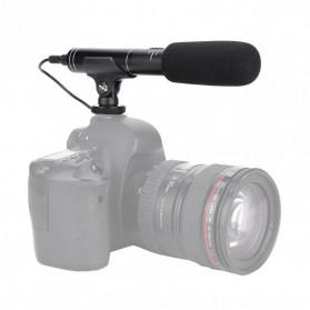 VBESTLIFE Portable Shotgun Microphone Condenser for DSLR Camcorder - MIC01 - Black - 5