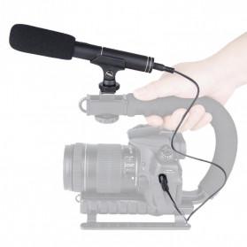 VBESTLIFE Portable Shotgun Microphone Condenser for DSLR Camcorder - MIC01 - Black - 6