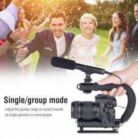 VBESTLIFE Portable Shotgun Microphone Condenser for DSLR Camcorder - MIC01 - Black - 7