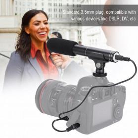 VBESTLIFE Portable Shotgun Microphone Condenser for DSLR Camcorder - MIC01 - Black - 8