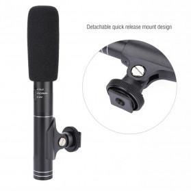 VBESTLIFE Portable Shotgun Microphone Condenser for DSLR Camcorder - MIC01 - Black - 9