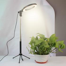 Lacyfans Lampu Halo Ring Light LED Selfie 120 LED 10 Inch with Smartphone Holder + Mini Tripod + Monopod - RL-128 - Black - 4