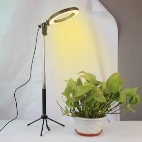 Lacyfans Lampu Halo Ring Light LED Selfie 120 LED 10 Inch with Smartphone Holder + Mini Tripod + Monopod - RL-128 - Black - 5
