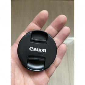 Front Cover & Rear Lens Cap Protection for Canon 67mm (With Logo) - Black - 2