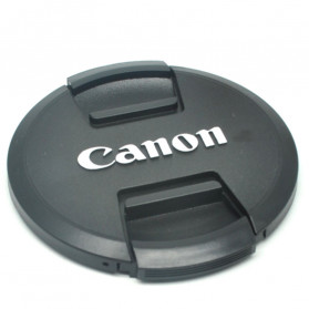 Front Cover & Rear Lens Cap Protection for Canon 82mm (With Logo) - Black