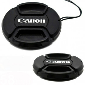 Front Cover & Rear Lens Cap Protection Tutup Lensa Canon 82mm (With Logo) - Black