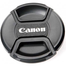 Front Cover & Rear Lens Cap Protection Tutup Lensa Canon 82mm (With Logo) - Black - 3