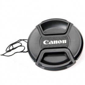 Front Cover & Rear Lens Cap Protection Tutup Lensa Canon 82mm (With Logo) - Black - 4