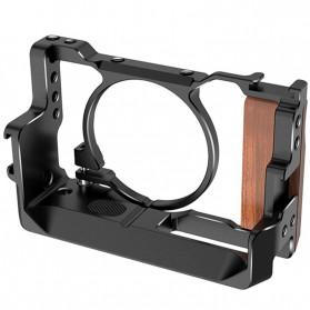 Corey Camera Cage Rig Handle Stabilizer Vlog Kit for Sony RX100 VI / VII - C9 - Black