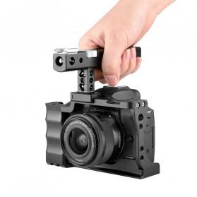 Yelangu Camera Cage Rig Handle Stabilizer Vlog Kit for Canon EOS M50 - C10 - Black