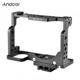 Andoer Camera Cage Rig Handle Stabilizer Vlog Kit for Nikon Z6 Z7 - C15-A - Black