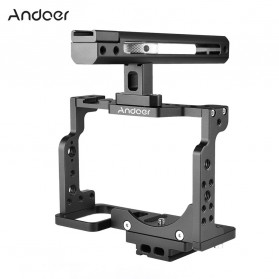 Andoer Camera Cage Rig Handle Stabilizer Vlog Kit for Nikon Z6 Z7 - C15-B - Black