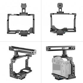Andoer Camera Cage Rig Handle Stabilizer Vlog Kit for Nikon Z6 Z7 - C15-B - Black - 2
