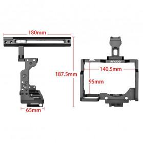 Andoer Camera Cage Rig Handle Stabilizer Vlog Kit for Nikon Z6 Z7 - C15-B - Black - 3