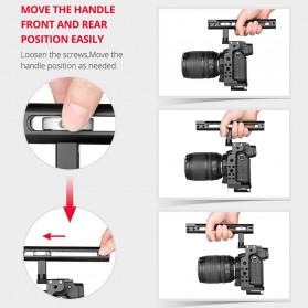 Andoer Camera Cage Rig Handle Stabilizer Vlog Kit for Nikon Z6 Z7 - C15-B - Black - 4