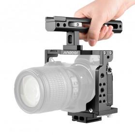 Andoer Camera Cage Rig Handle Stabilizer Vlog Kit for Nikon Z6 Z7 - C15-B - Black - 5