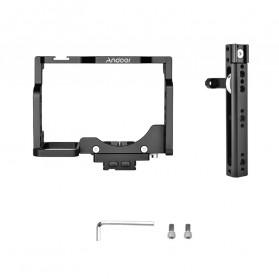 Andoer Camera Cage Rig Handle Stabilizer Vlog Kit for Nikon Z6 Z7 - C15-B - Black - 6