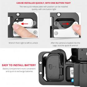 Andoer Camera Cage Rig Handle Stabilizer Vlog Kit for Nikon Z6 Z7 - C15-B - Black - 7