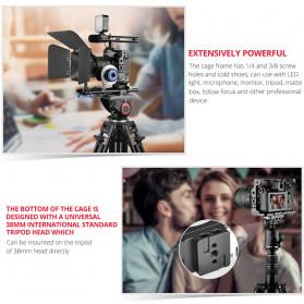 Andoer Camera Cage Rig Handle Stabilizer Vlog Kit for Nikon Z6 Z7 - C15-B - Black - 8