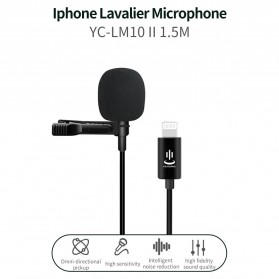 TaffSTUDIO Microphone Clip-on Lightning Plug Lavalier iPad iPhone JH-041 - Black