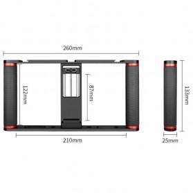U-Rig Smartphone Handheld Rig Stabilizer Cage Aluminium - PC05 - Black - 5