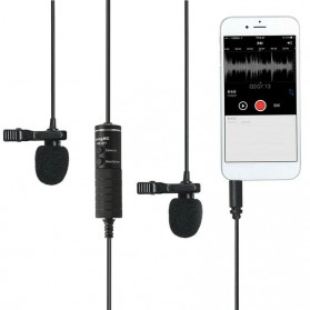 Skatolly Professional Lavalier Microphone Clip Portable 3.5mm - MB-Q01 - Black - 10