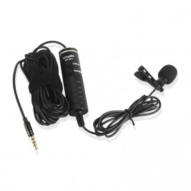 Skatolly Professional Lavalier Microphone Clip Portable 3.5mm - MB-Q01 - Black - 11