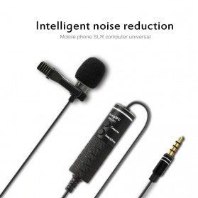 Skatolly Professional Lavalier Microphone Clip Portable 3.5mm - MB-Q01 - Black - 3