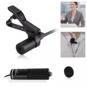 Skatolly Professional Lavalier Microphone Clip Portable 3.5mm - MB-Q01 - Black - 5