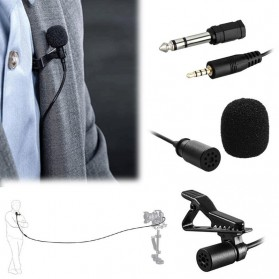 Skatolly Professional Lavalier Microphone Clip Portable 3.5mm - MB-Q01 - Black - 7