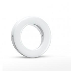 SZKOSTON Lampu Halo Ring Light LED Selfie Smartphone Clip 40 LED - XJ-19 - White - 2