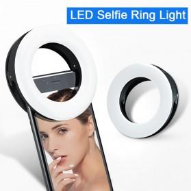 SZKOSTON Lampu Halo Ring Light LED Selfie Smartphone Clip 40 LED - XJ-19 - White - 3