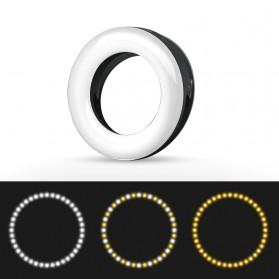 SZKOSTON Lampu Halo Ring Light LED Selfie Smartphone Clip 40 LED - XJ-19 - White - 4