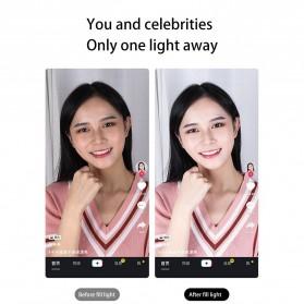Jinyufeng Lampu Halo Ring Light LED Kamera Wired 336 LED 29cm with 1xSmartphone Holder - Y2 - Black - 10