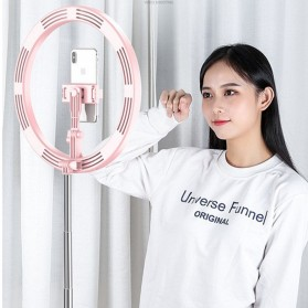 Jinyufeng Lampu Halo Ring Light LED Kamera Wired 336 LED 29cm with 1xSmartphone Holder - Y2 - Black - 2