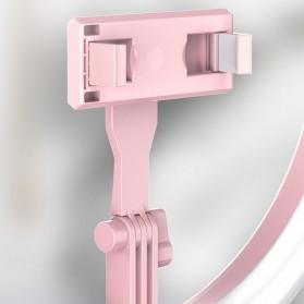 Jinyufeng Lampu Halo Ring Light LED Kamera Wired 336 LED 29cm with 1xSmartphone Holder - Y2 - Black - 5