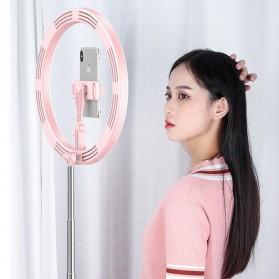 Jinyufeng Lampu Halo Ring Light LED Kamera Wired 336 LED 29cm with 1xSmartphone Holder - Y2 - Black - 7