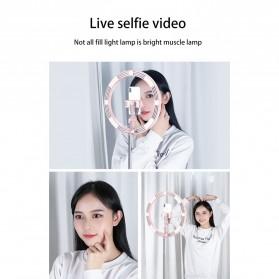 Jinyufeng Lampu Halo Ring Light LED Kamera Wired 336 LED 29cm with 1xSmartphone Holder - Y2 - Black - 8