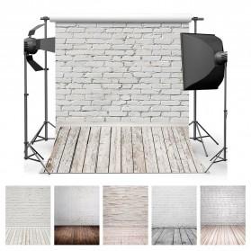 ALLOYSEED Backdrop Studio Fotografi Background Cloth 150x200CM - C-759 - White - 2