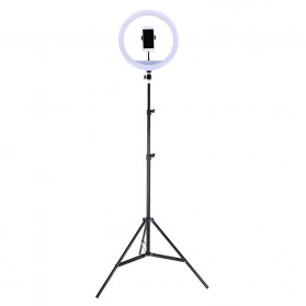 YUNGNUO Lampu Halo Ring Light LED Kamera Wired 192 LED 15W 13 Inch with 1xSmartphone Holder + Tripod - JY-340A - White
