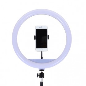 YUNGNUO Lampu Halo Ring Light LED Kamera Wired 192 LED 15W 13 Inch with 1xSmartphone Holder + Tripod - JY-340A - White - 5
