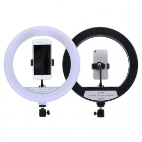 YUNGNUO Lampu Halo Ring Light LED Kamera Wired 192 LED 30W 12 Inch with 1xSmartphone Holder + Remote + Tripod - JY-30A - White - 2
